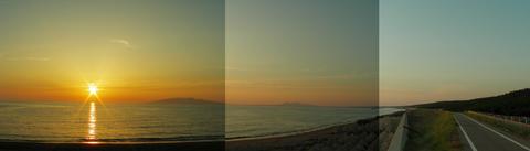 夕日の松原